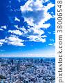 清爽的雲彩·東京城市景觀 38006548