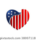 American Heart. 3D Render Illustration 38007118