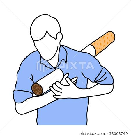 metaphor cigarette stab human body  38008749