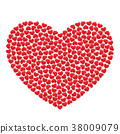 Big Heart with small red hearts. 38009079