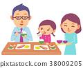 가족, 패밀리, 식사 38009205