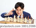 체스하는 20대 비지니스 청년, 체스,승부,도박 38012086