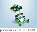 design concept of forest dam in isometric view 38012493