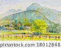 繪畫 山水畫 多彩 38012648