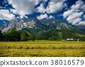 Dachstein mountain range in Alps in Austria. 38016579