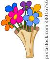 Cartoon flower bouquet 38016756