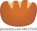 矢量 奶油面包 面包 38017328