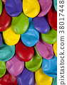 colorful deflated balloons pattern 38017448