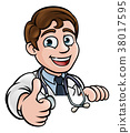 Doctor Cartoon Character Thumbs Up 38017595