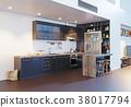 kitchen, interior, room 38017794
