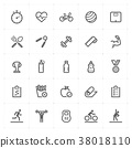 icon, vector, fitness 38018110