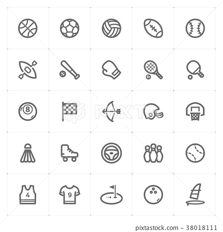 Mini Icon set – Sport icon vector illustration 38018111