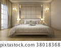 modern luxury classic bedroom with marble decor 38018368