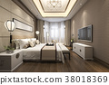 modern luxury classic bedroom with marble decor 38018369
