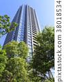 도시 풍경 (도쿄, 분수 정원 여름) 38018534
