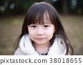 더플 코트 (자켓 겨울 초상화상의 인물 일본인 유아 복사 공간 아이) 38018655