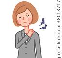 肩部僵硬的女人 38018717