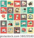 Set of flat icons for business and technology 38020580