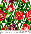 watercolor, colorful, rose 38020708