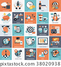 Business and management icon set 38020938