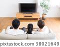ทีวี,ครอบครัว,ห้องนั่งเล่น 38021649