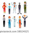 Women Professions Flat Characters Set  38024025