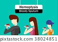 Hemoptysis or Bloody Sputum in Vector design 38024851