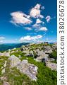 boulder, Carpathian, hillside 38026678