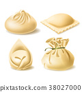 Realistic vector clipart of different dumplings 38027000