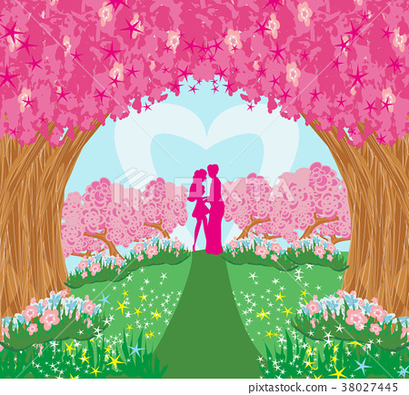 Lovers in the magical garden 38027445