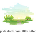 Beautiful landscape background 38027467