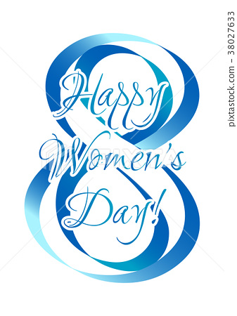 Holiday card on Women's Day in March 8 38027633