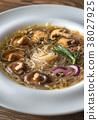 Portion of shiitake ginger soup 38027925