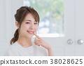 年輕女性,肖像,美的形象 38028625