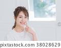 年輕女性,肖像,美的形象 38028629