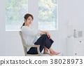 젊은 여성, 초상화, 뷰티 이미지 38028973