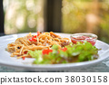 Spaghetti with chicken. 38030158