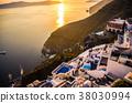산토리니 섬, 바다, 에게 해 38030994