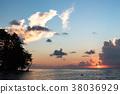 타히티 보라 보라 섬의 황혼 38036929