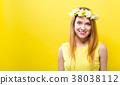 Beautiful young woman 38038112