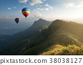 Hot air balloon over Pha Tang hill  38038127