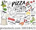 披薩 菜單 意大利 38038423