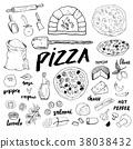 pizza, menu, italian 38038432