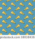 pizza, pattern, vector 38038436