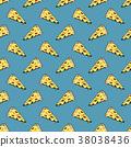 pizza pattern vector 38038436