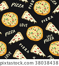 pizza, pattern, vector 38038438