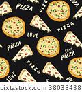 pizza pattern vector 38038438