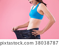 woman show weight loss 38038787