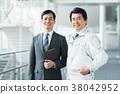 นักธุรกิจและคนงาน 38042952