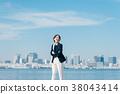 ท้องฟ้าเป็นสีฟ้า,ภาพบุคคล,ผู้หญิง 38043414